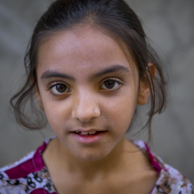 """Young Syrian Refugee Girl, Koya, Kurdistan, Iraq"" stock image"
