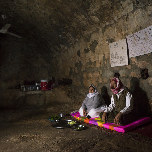 """Yezedi Refugees From Sinjar Living Inside Lalesh Temple, Kurdistan, Iraq"" stock image"