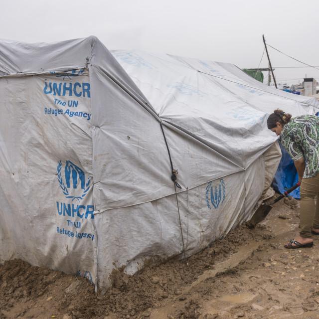 """""""Domiz Syrian Refugee Camp, Erbil, Kurdistan, Iraq"""" stock image"""