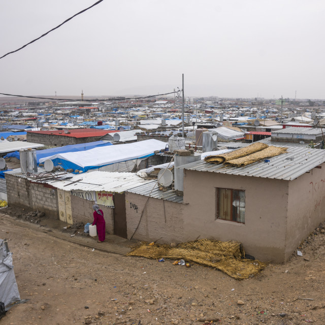"""Domiz Syrian Refugee Camp, Erbil, Kurdistan, Iraq"" stock image"
