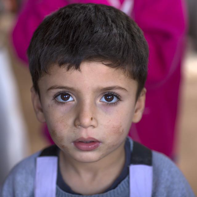 """Yazidi Refugee From Sinjar, Duhok, Kurdistan, Iraq"" stock image"