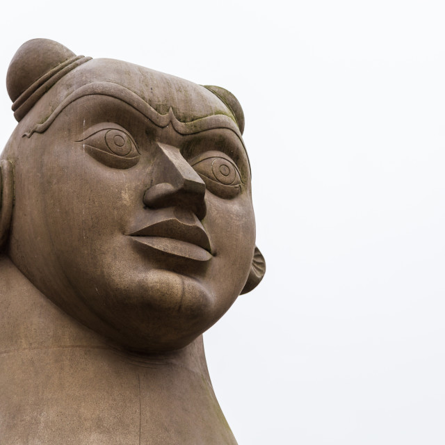 """""""Guardian statue looking into the distance"""" stock image"""