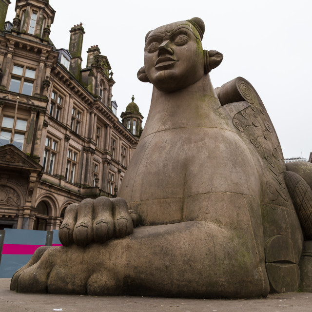 """Guardian statue in Victoria Square"" stock image"