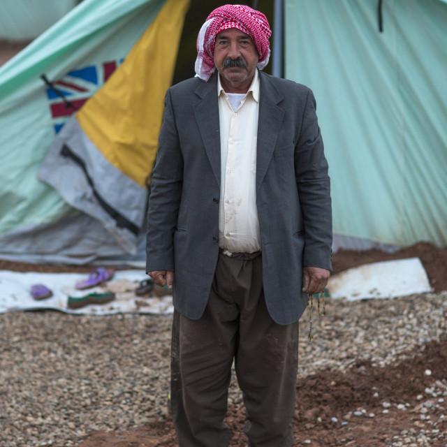 """Yezedi Refugee From Sinjar, Lalesh, Kurdistan, Iraq"" stock image"