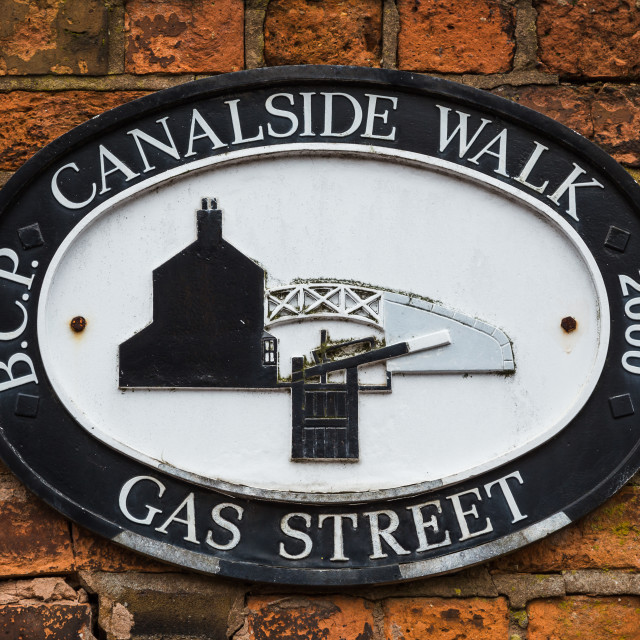"""Canalside Walk in Birmingham"" stock image"