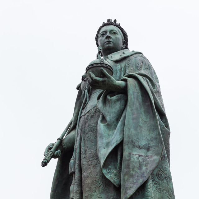 """Queen Victoria statue"" stock image"