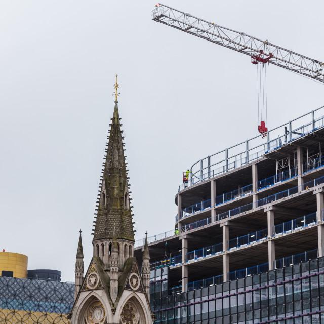 """Changing skyline of Birmingham"" stock image"