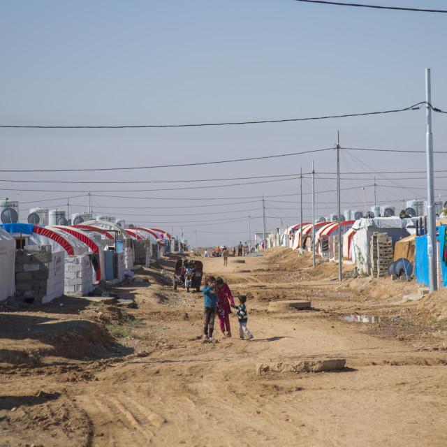 """""""Qushtapa Refugee Camp, Erbil, Kurdistan, Iraq"""" stock image"""