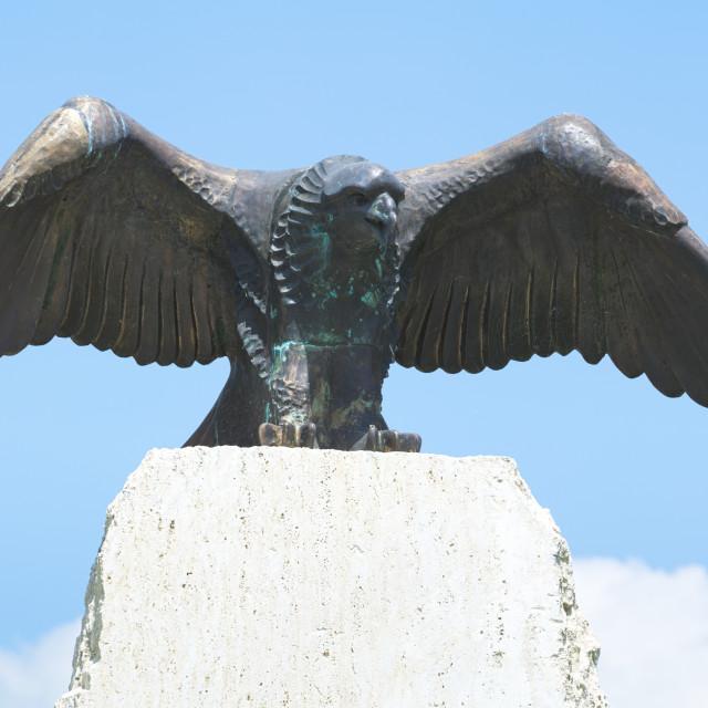 """Turul Bird Statue"" stock image"