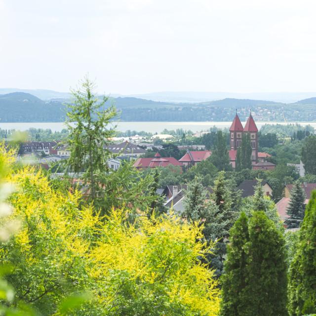 """Cityscape of Balatonfured Hungary"" stock image"