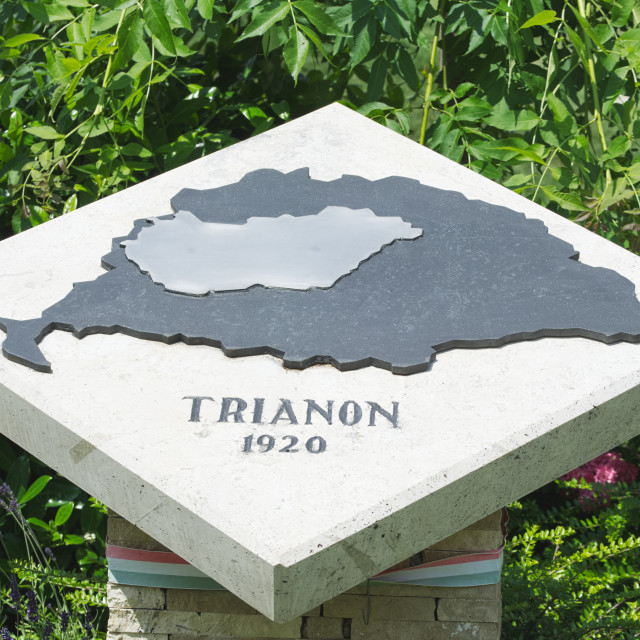 """Trianon Memorial Stone"" stock image"