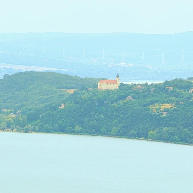 """Tihany Peninsula in Lake Balaton"" stock image"