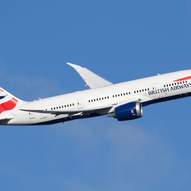 """British Airways 787-8 Dreamliner G-ZBJI 180107 EGLL"" stock image"