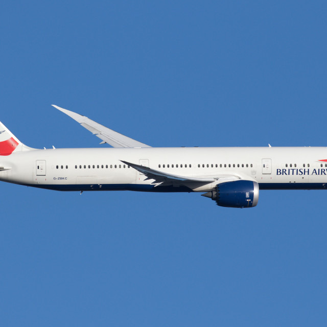 """British Airways 787-9 Dreamliner G-ZBKC 180107 EGLL"" stock image"