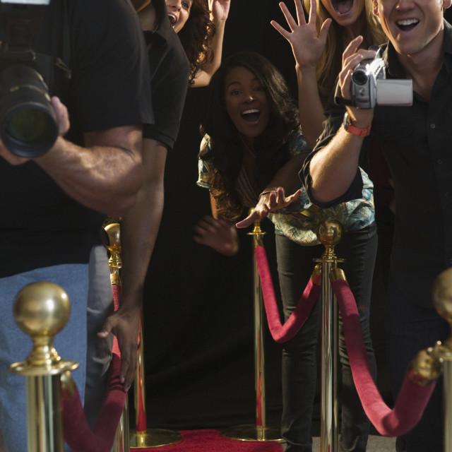"""""""Paparazzi at red carpet event"""" stock image"""