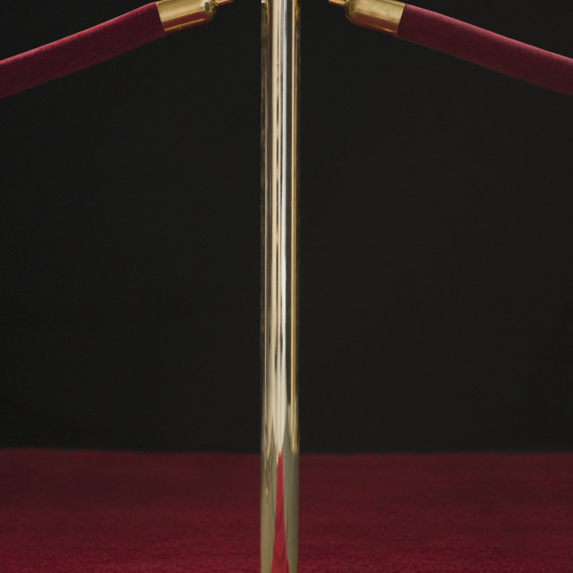 """""""Rope barriers at red carpet event"""" stock image"""