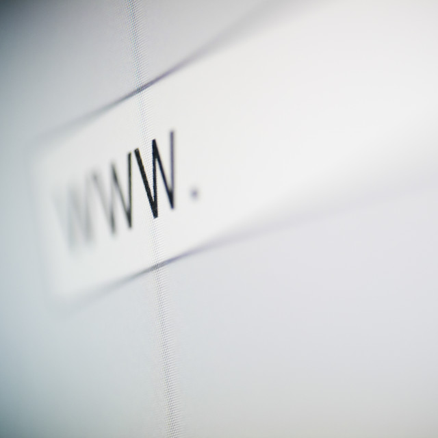 """""""Close up of www in web address"""" stock image"""