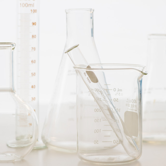"""Laboratory glassware"" stock image"