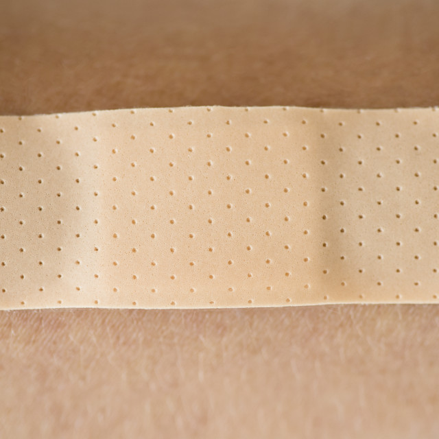 """Studio shot of adhesive bandage"" stock image"