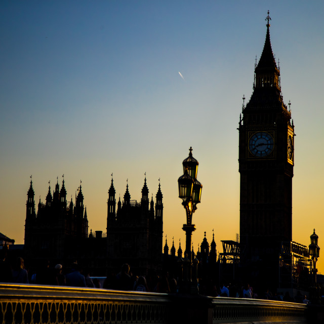 """Thames Sunset"" stock image"