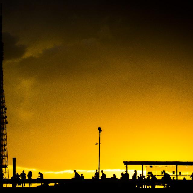 """Brasilila urban sunset"" stock image"
