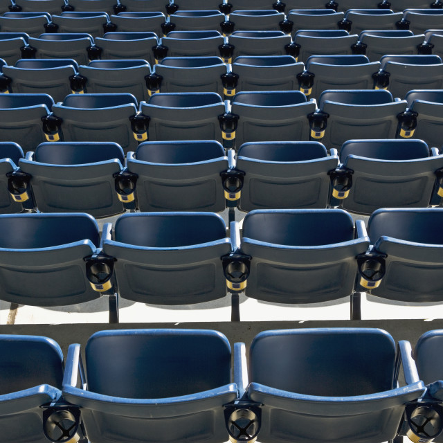 """Empty rows of seating"" stock image"