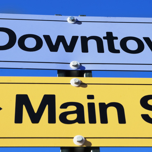 """""""Directional road signs"""" stock image"""