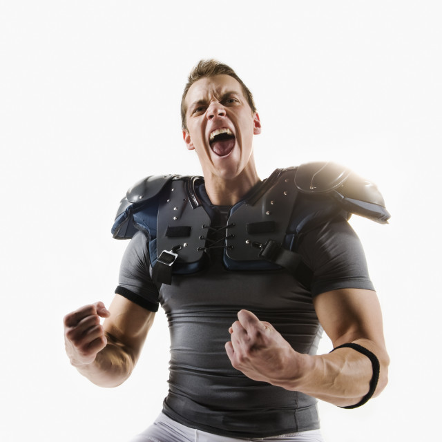 """""""A football player"""" stock image"""