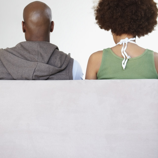 """""""Portrait of the back of a couple"""" stock image"""