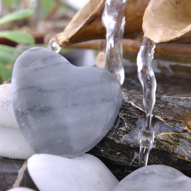 """romantic little fountain"" stock image"