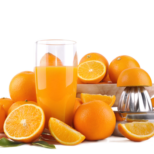 """""""fresh orange juice and fruits"""" stock image"""
