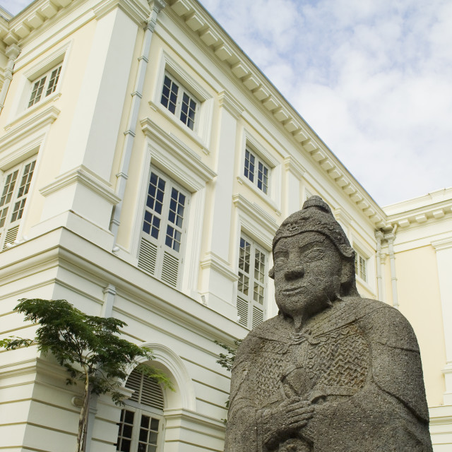 """Asian Civilizations Museum Empress Place Singapore Statue of Ming General"" stock image"