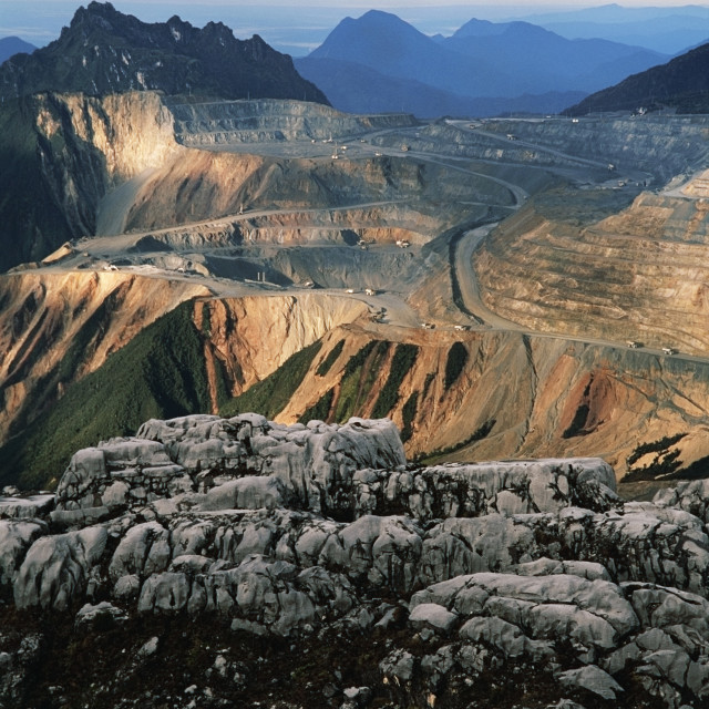 """Gold and copper mine in Indonesia"" stock image"