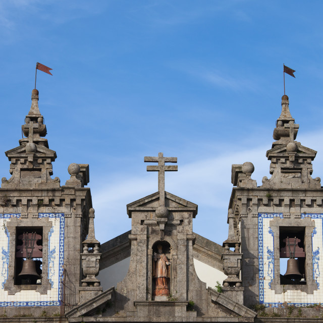 """Church of Saint Ildefonso Bell Towers in Porto"" stock image"