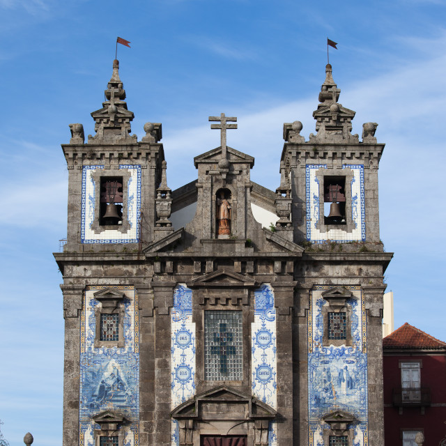 """Church of Saint Ildefonso in Porto"" stock image"