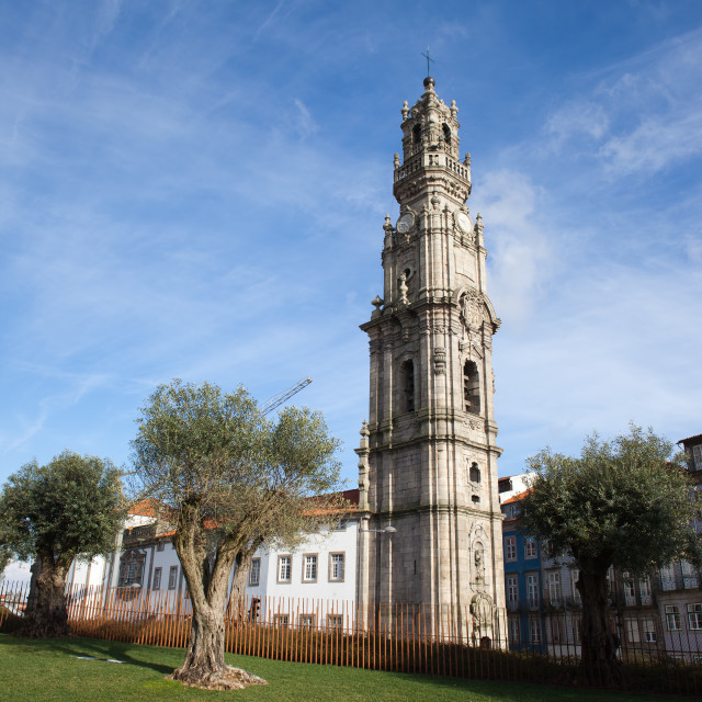 """Clerigos Church Tower in Porto"" stock image"