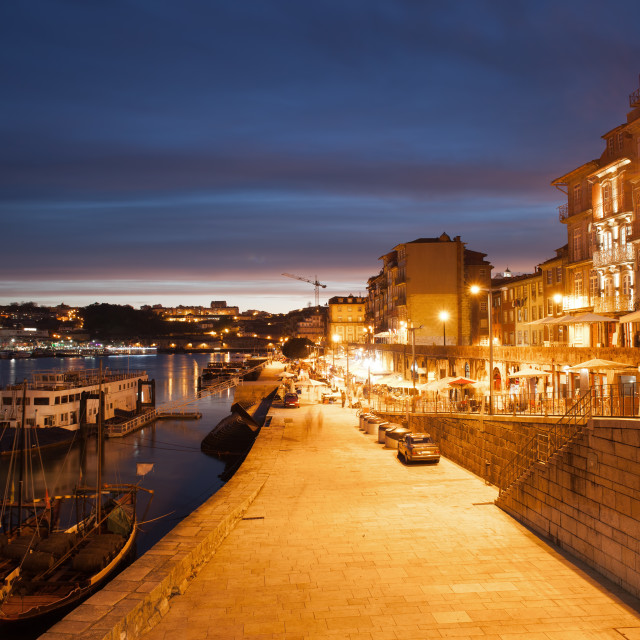 """City of Porto by Night in Portugal"" stock image"