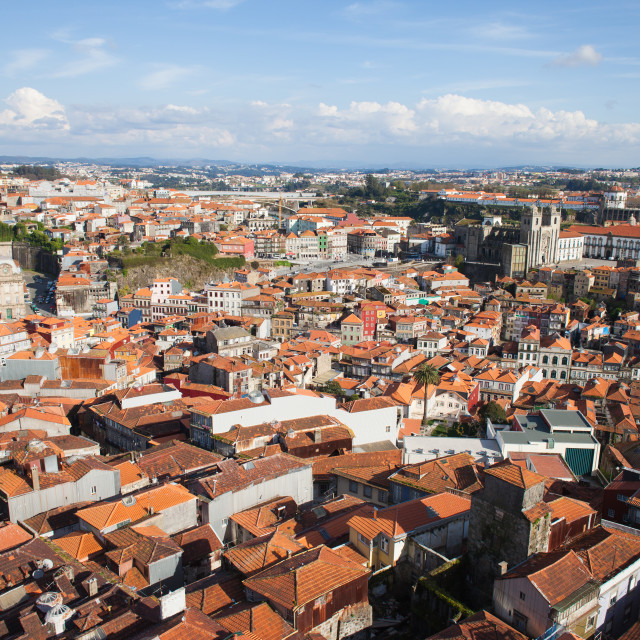 """View Over City of Oporto in Portugal"" stock image"