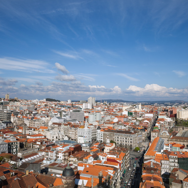 """City of Oporto in Portugal from Above"" stock image"
