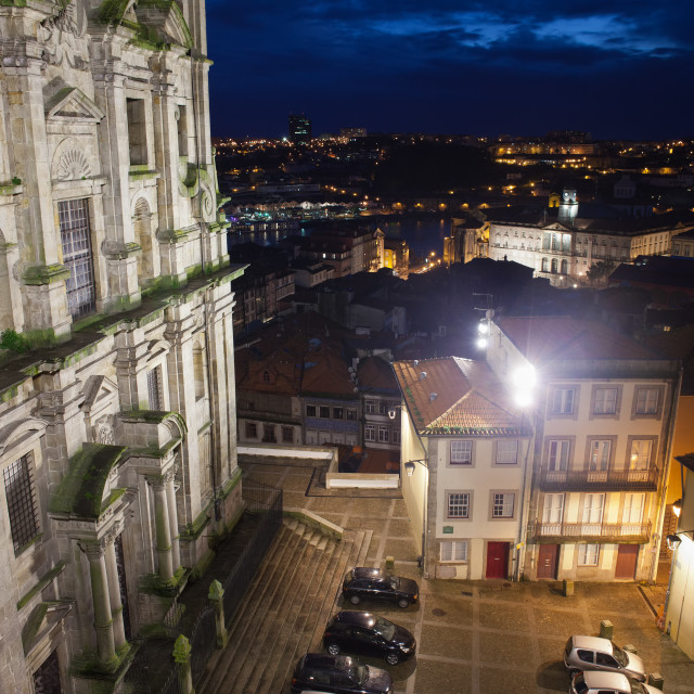 """Porto by Night in Portugal"" stock image"
