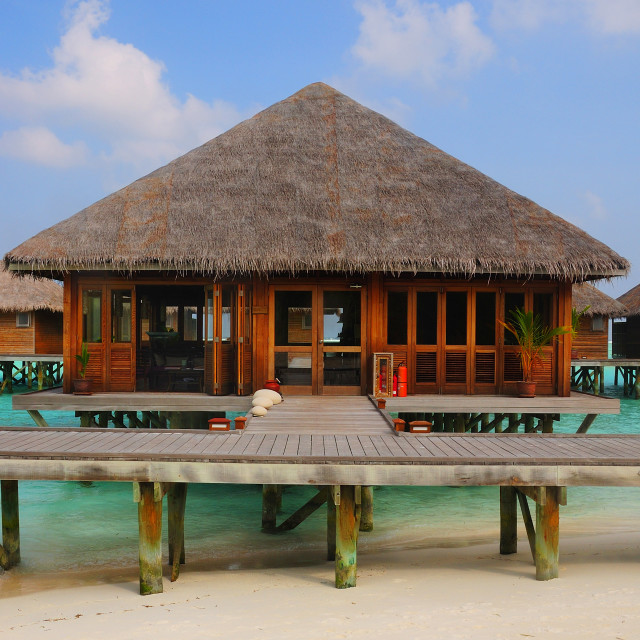 """Meeru water villas , Maldives"" stock image"