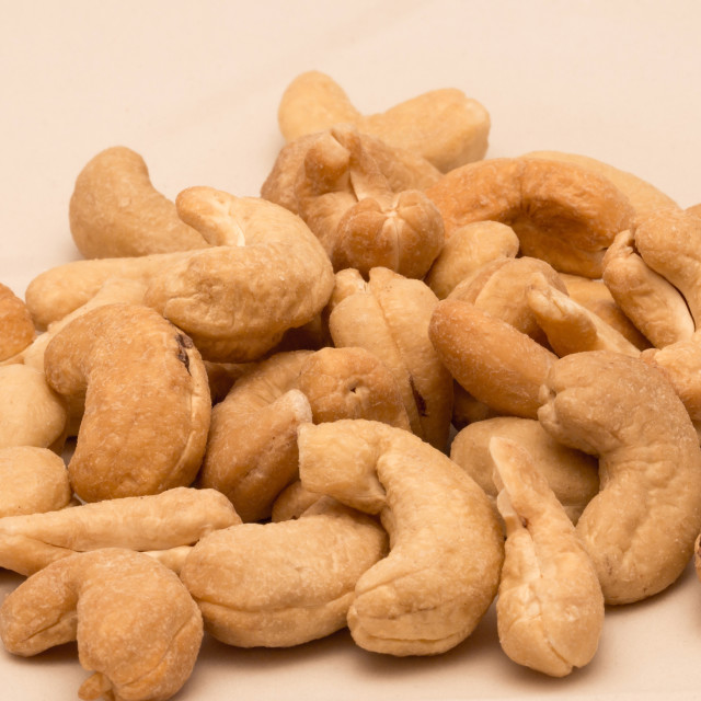 """Cashew nuts isolated"" stock image"