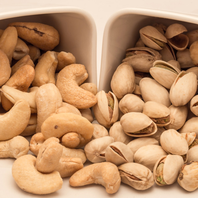"""Assorted nuts pistachio, cashew"" stock image"
