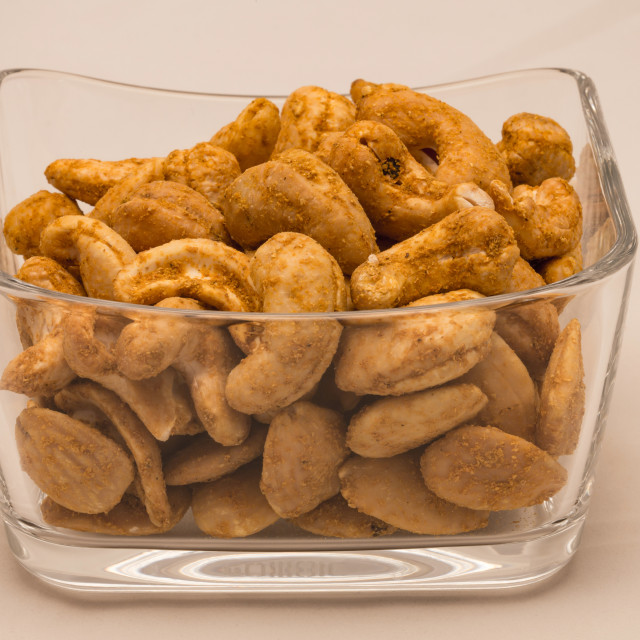 """Cashews and almonds"" stock image"