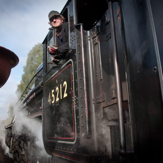 """steam train passing"" stock image"