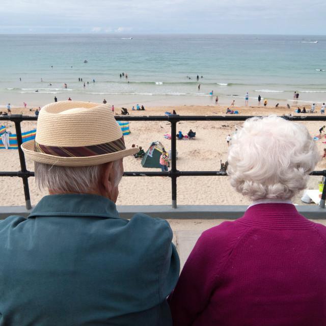 """""""elderly couple on holiday"""" stock image"""