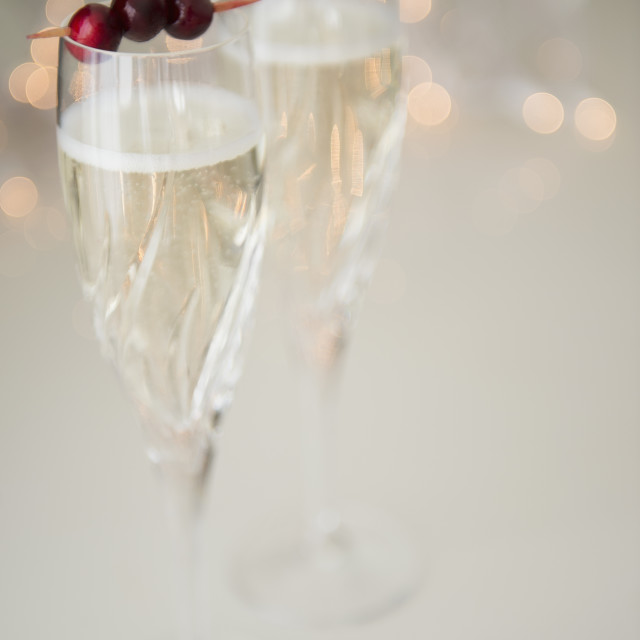 """""""Champagne with cranberry garnish"""" stock image"""