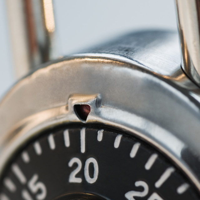"""""""Close up of combination lock"""" stock image"""