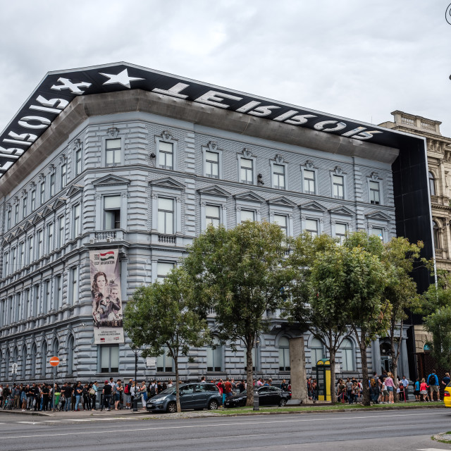 """""""House of Terror Museum in Budapest"""" stock image"""