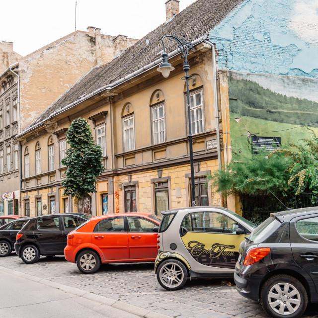 """Street in Jewish Quarter in Budapest"" stock image"
